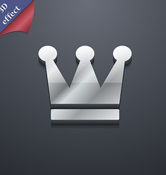 King Crown icon symbol 3D style Trendy modern vector image