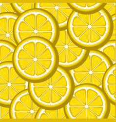 lemon slices yellow seamless pattern image vector image