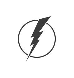 lightning logo design element energy and thunder vector image