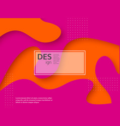 liquid abstract pink and orange background vector image