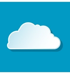 Little cloud icon vector image