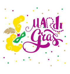 Mardi gras text lettering for greeting card vector