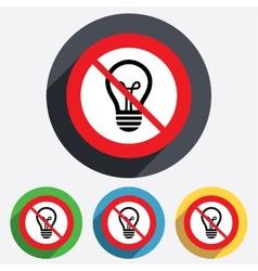 No Light lamp sign icon Idea symbol vector