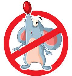 no rats cartoon symbol sign vector image