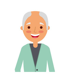 old man portrait of a pensioner grandfather vector image