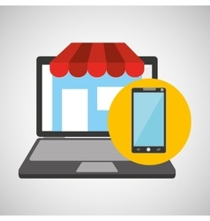 online store shopping smartphone graphic vector image
