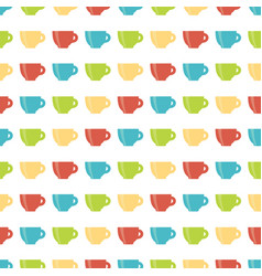 pattern cup vector image
