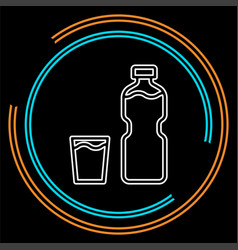 plastic water bottle drink container vector image