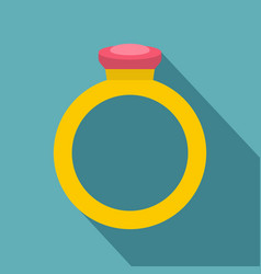 ring icon flat style vector image