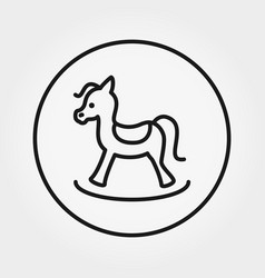 Rocking horse toy universal icon vector