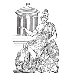 rome personified a famous roman statue in front vector image