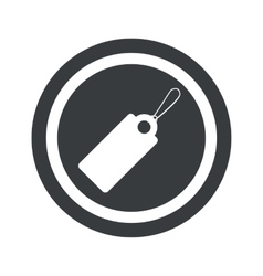 Round black string tag sign vector