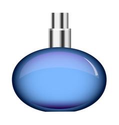 Round perfume bottle mockup realistic style vector