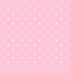 seamless polka dot pattern white little vector image