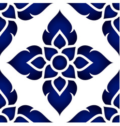 Seamless thai pattern vector