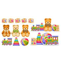 Set for kids toys vector