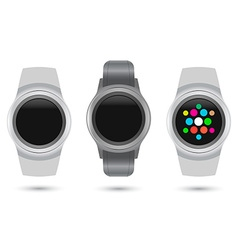 Set of Smart Watches icons vector image