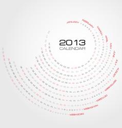 Swirl calendar 2013 vector