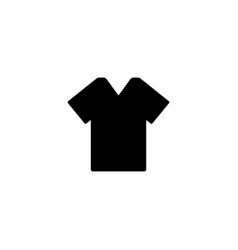 t shirt icon vector image