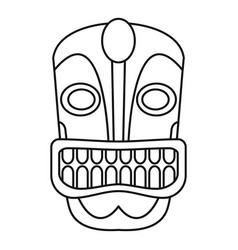 Tiki idol face icon outline style vector