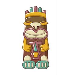 tribal idol icon cartoon style vector image