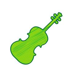 violin sign lemon scribble vector image