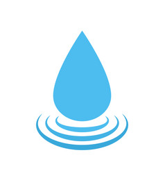 Water drop logo water droplet symbol vector