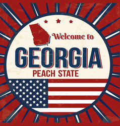 welcome to georgia vintage grunge poster vector image