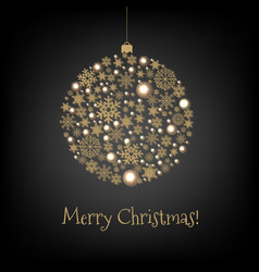 xmas card with christmas ball vector image