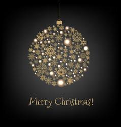 xmas card with christmas ball vector image