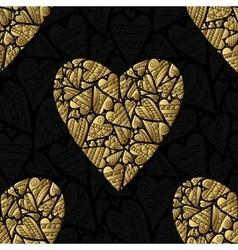 Elegant black golden seamless pattern vector image