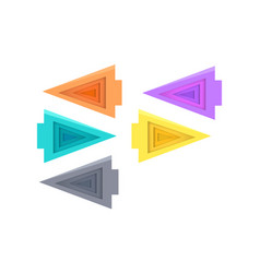 five colorful arrows on white vector image