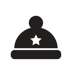 Flat icon in black and white style hat vector