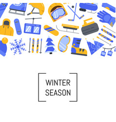 flat style winter sports equipment and vector image vector image