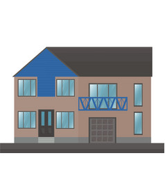 house building facade architecture vector image