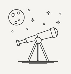 Thin line design of telescope vector