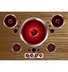 wood speaker vector image vector image