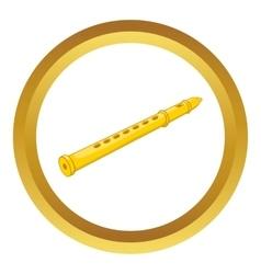 Flute icon vector image