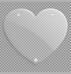 glass heart icon vector image