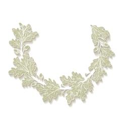 white Oak Wreath vector image vector image