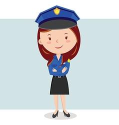 Cartoon police officer or Policewoman vector image