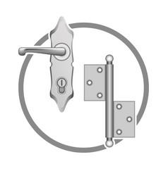 metall door accessories vector image vector image