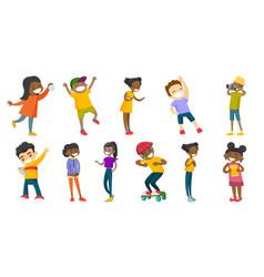 multiracial children set vector image vector image