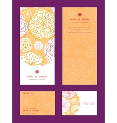 warm day flowers vertical frame pattern invitation vector image vector image