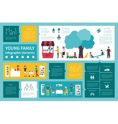 Young Family infographic flat vector image