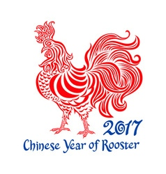 2017 cock chinese year of rooster vector