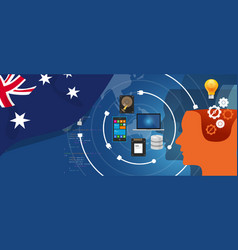 australia it information technology digital vector image vector image