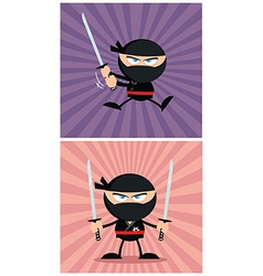 Cartoon ninja design vector image vector image