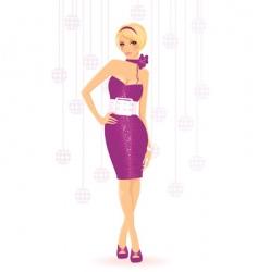 girl ingress vector image