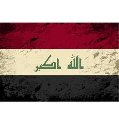 Iraqi flag Grunge background vector image